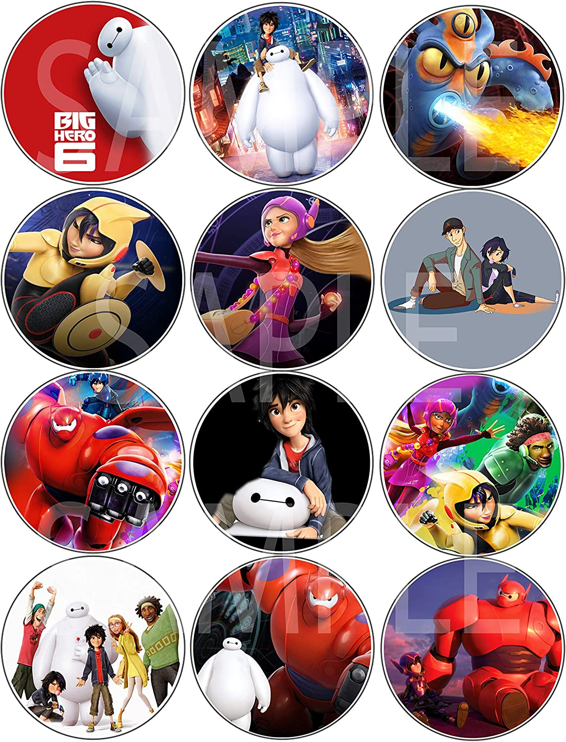 Amazon Com Djzdealz Big Hero 6 Baymax Buttons Movie Party Favors Supplies Decorations Collectible Metal Pinback Buttons Pins Large 2 25 12 Pcs Toys Games
