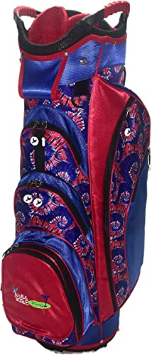 Birdie Babe American Swinger Red and Blue Ladies Golf Cart Bag with 14-Way Dividers