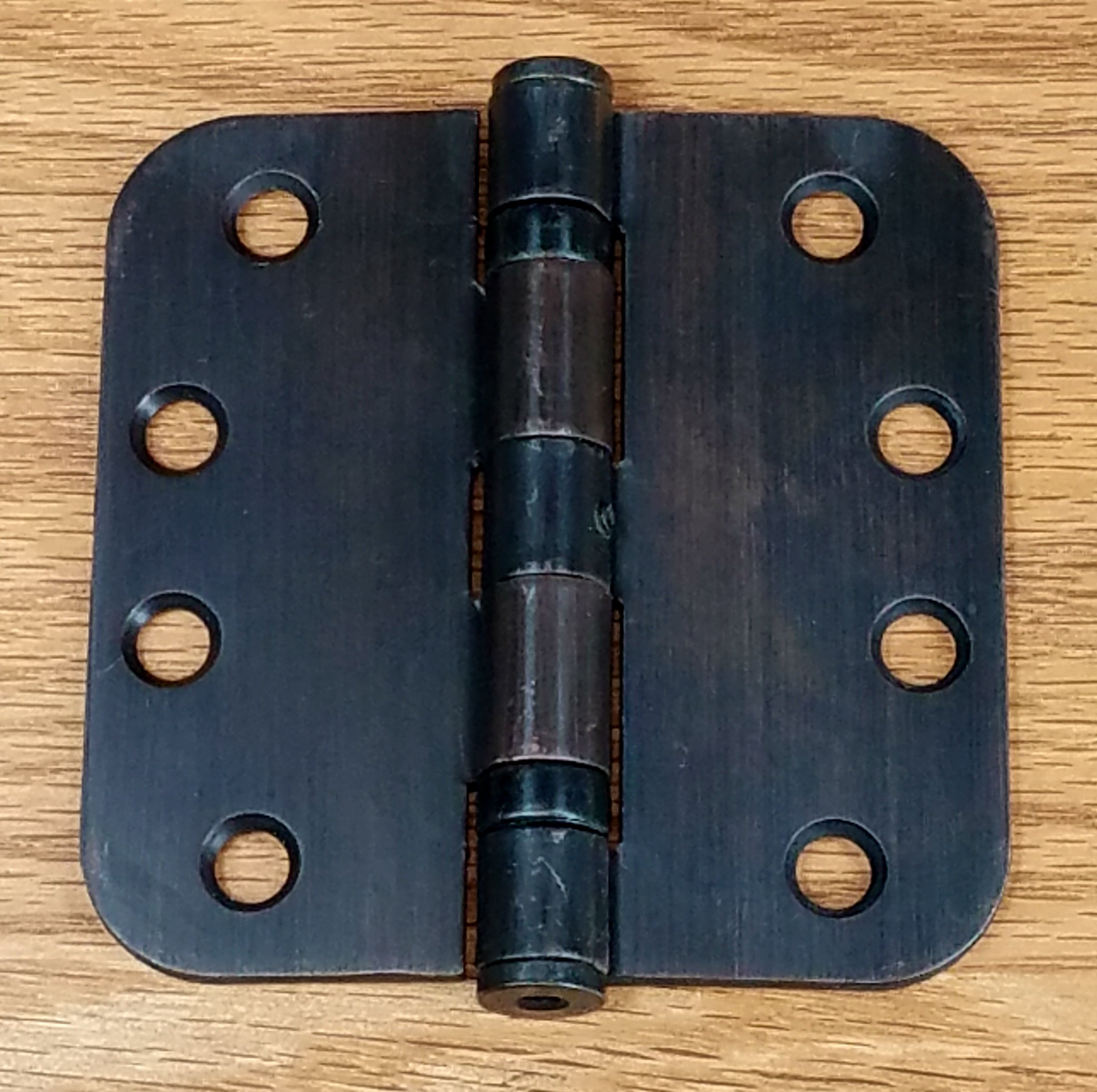 Commercial Door Hinges - 4 Inch with 5/8 Radius - Ball Bearing - Oil Rubbed Bronze - Non Removable Pin - 2 Pack