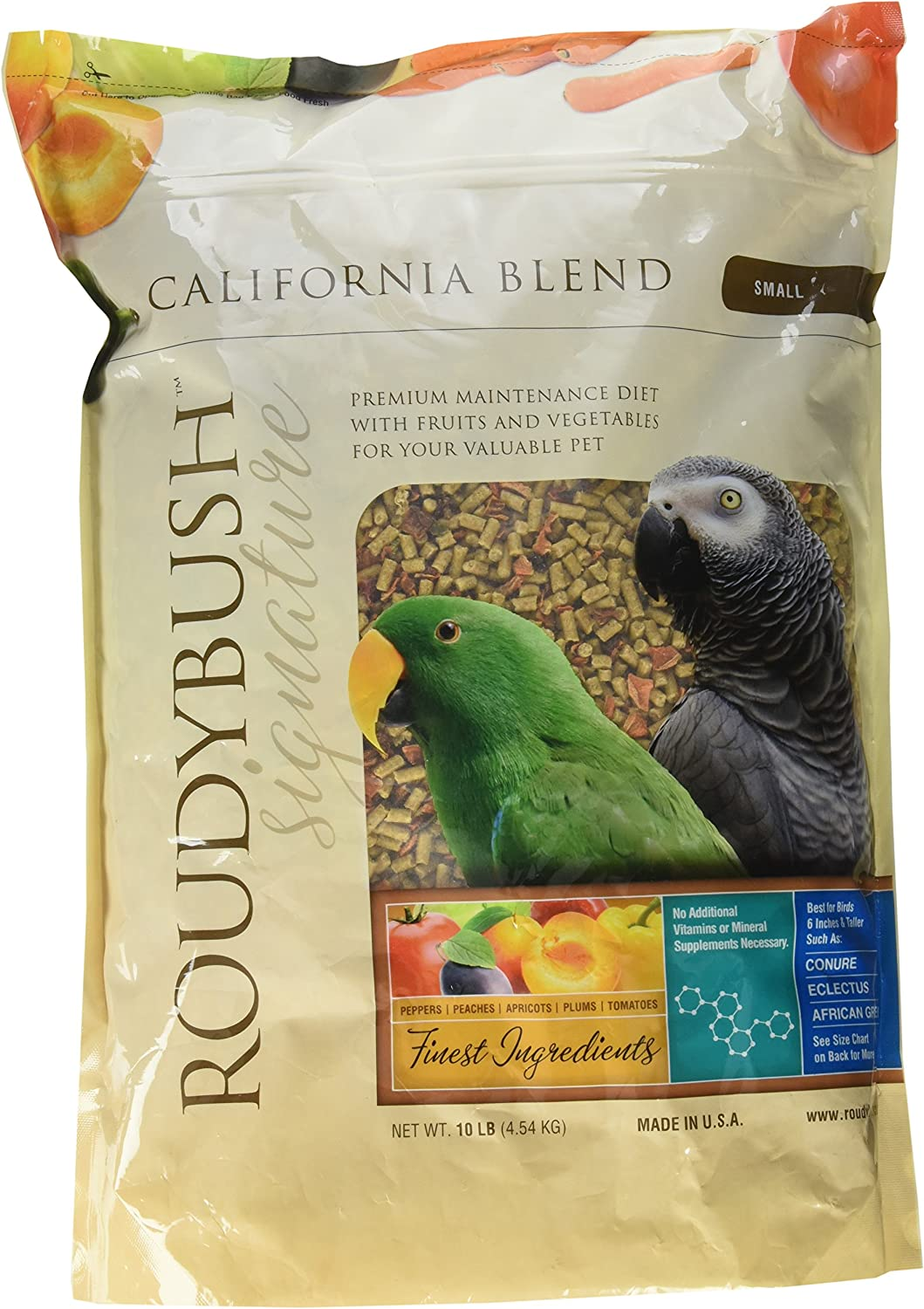 RoudyBush California Blend for Birds Small 10 Lbs