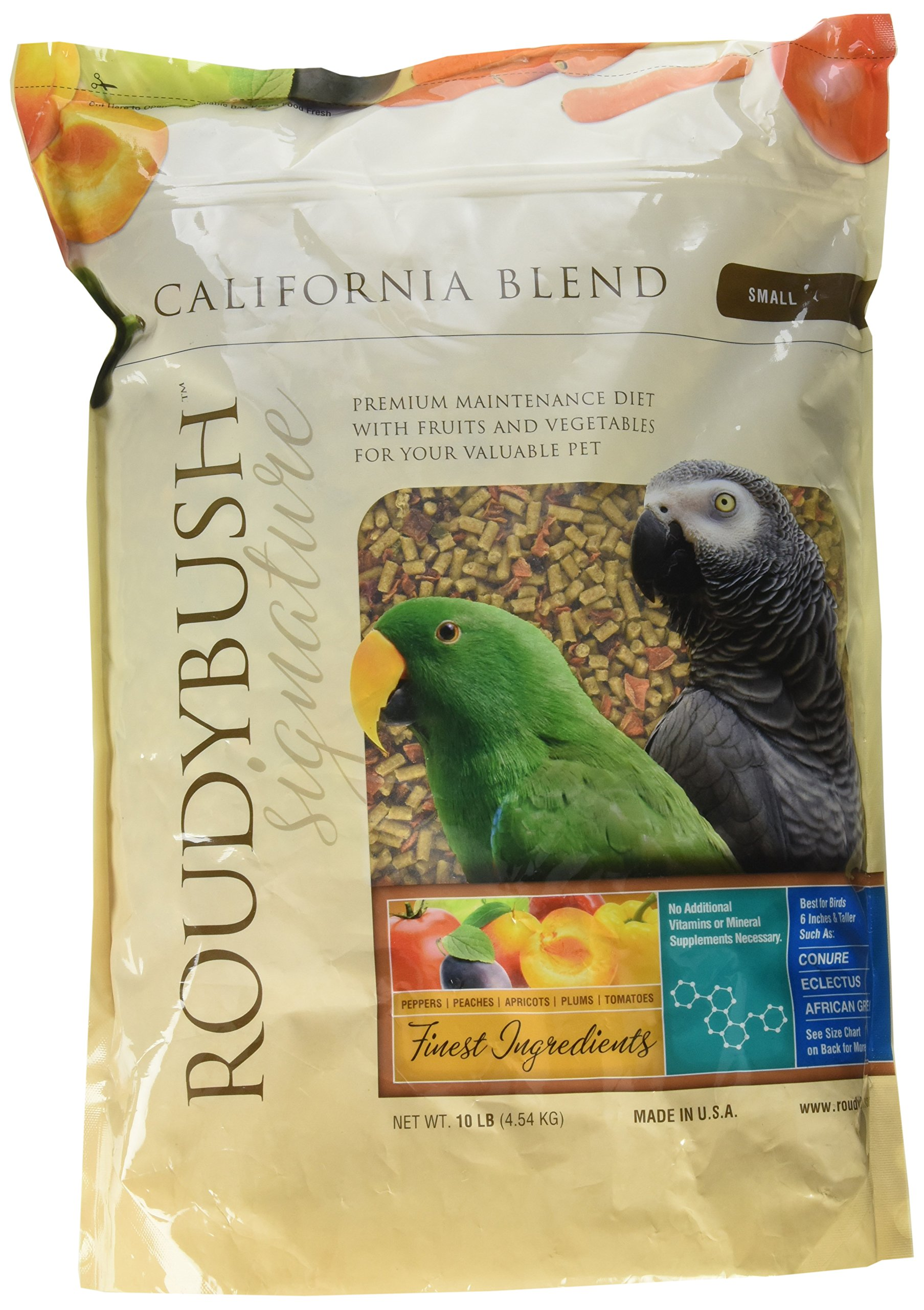 RoudyBush California Blend Bird Food, Small, 10-Pound(Packaging May Vary) by RoudyBush
