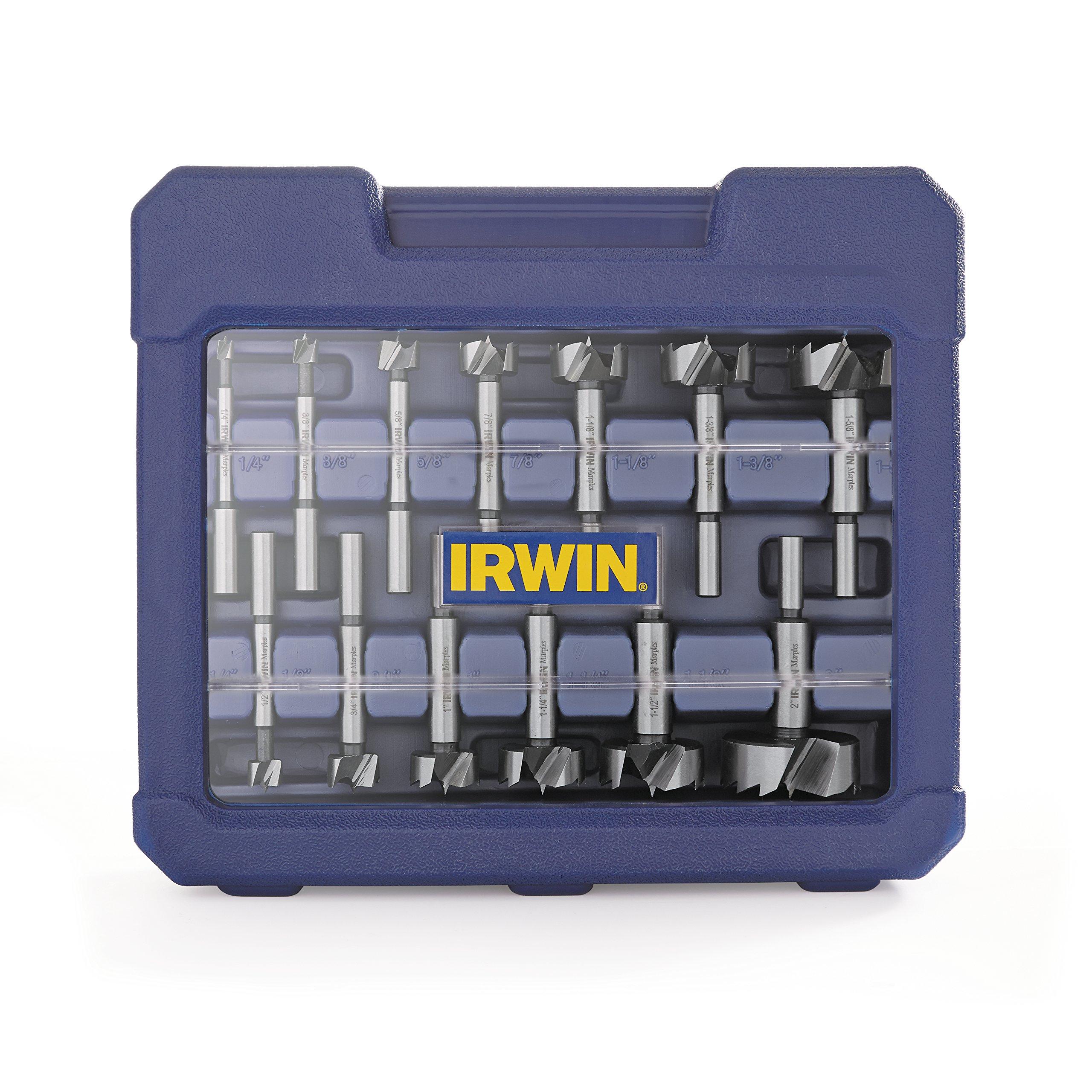 Irwin Tools 1966893 Marples Wood Drilling Forstner Bit Set (14 Piece)