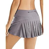 CRZ YOGA Women's Athletic Tennis Golf Skirts Pleated Shorts Sport Skort with Pocket