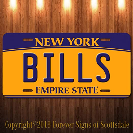 The Giants NFL Football Team New York Aluminum Vanity License Plate