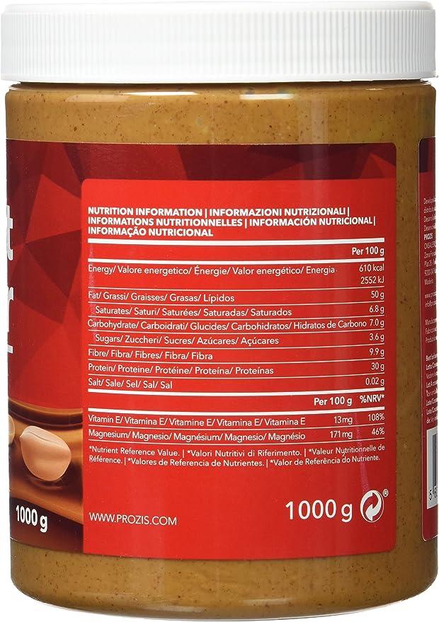 Prozis Peanut Butter 1kg - Deliciosa y de Textura Cremosa ...