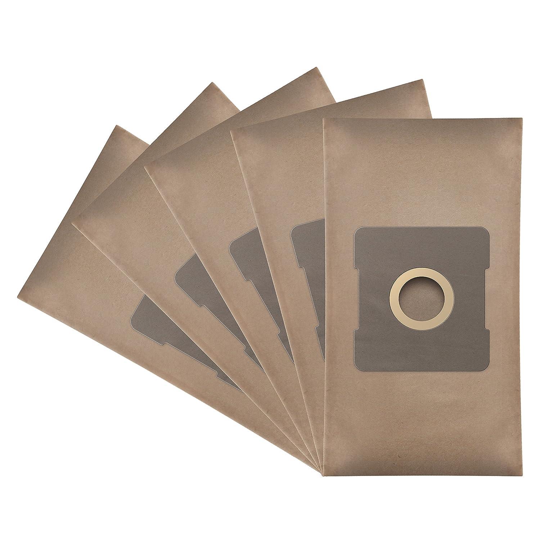 ✧WESSPER® Sacs d'aspirateur pour THOMSON SDA THVC08003 (5 pièces, papier)