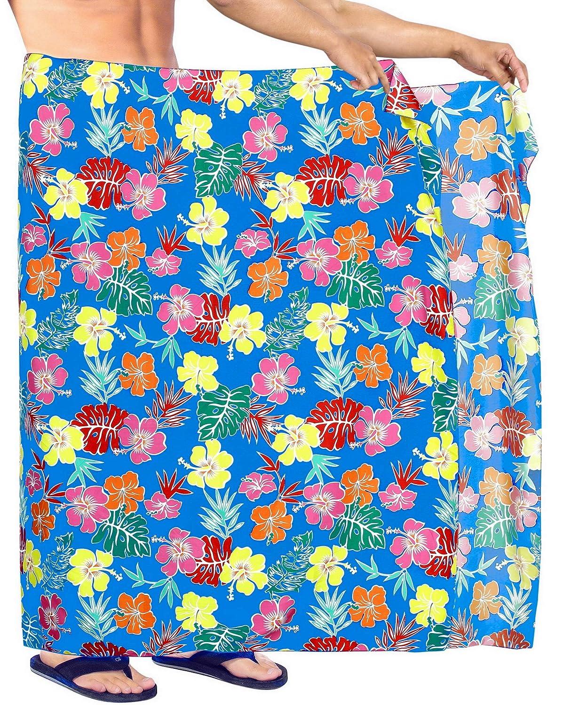 LA LEELA Mujeres caftán Rayón túnica Bordado Kimono Libre tamaño Largo Maxi Vestido de Fiesta para Loungewear Vacaciones Ropa de Dormir Playa Todos los días Cubrir Vestidos G