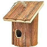 Gardirect Small Hanging Natural Birdhouse, Wooden Garden Bird House