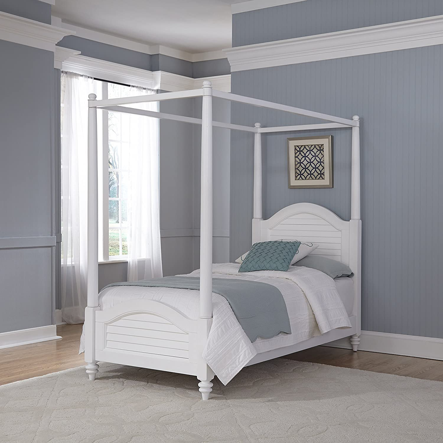 Amazon.com Home Styles Model 5542-510 Bermuda Canopy Bed Queen Espresso Finish Kitchen u0026 Dining : twin canopy beds for girls - memphite.com