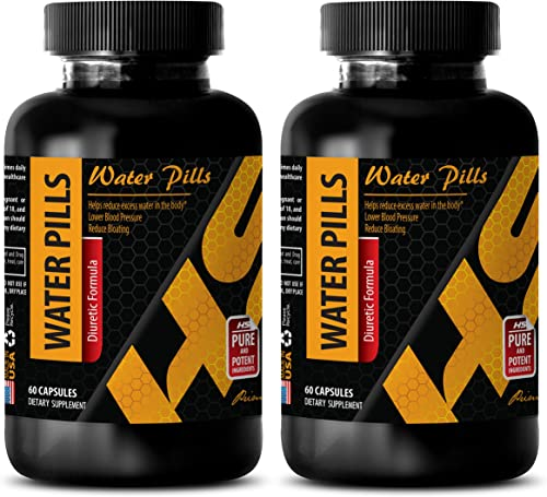 Diuretic Natural – Water Pills Diuretic Formula – Water Pills high Blood Pressure – Green Tea Supplement Fat Burner – 2 Bottles 120 Capsules