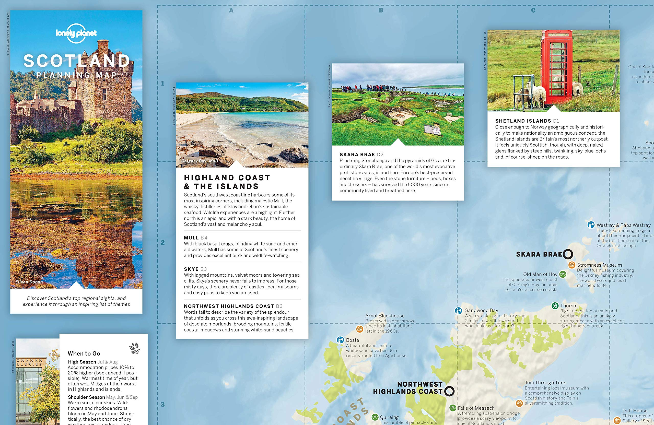 Tomtom Australia Map 915.Lonely Planet Scotland Planning Map Amazon Co Uk Lonely Planet
