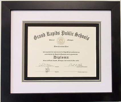 Amazon.com - Graduation High School Diploma 6 X 8 Certificate Triple ...