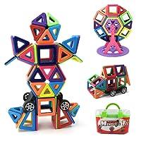 Magnetico Costruzione blocchi Bambini 108 pezzi Giocattoli magnetici, Giocattoli educativi 3D, Compleanno Regalo per bambini per bambini da 3 anni (108 pezzi)