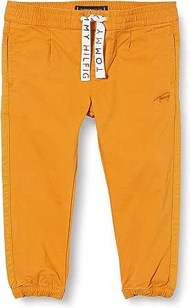 Tommy Hilfiger Pleated Fabric Mix Jogger Pantalones para Niños