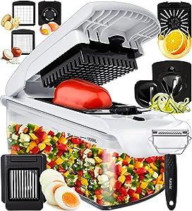 Fullstar Vegetable Chopper Onion Chopper Dicer - Peeler Food Chopper Salad Chopper Vegetable Cutter Vegetable Spiralizer Vegetable Slicer Zoodle Maker Lemon Squeezer Egg Separator Egg Slicer