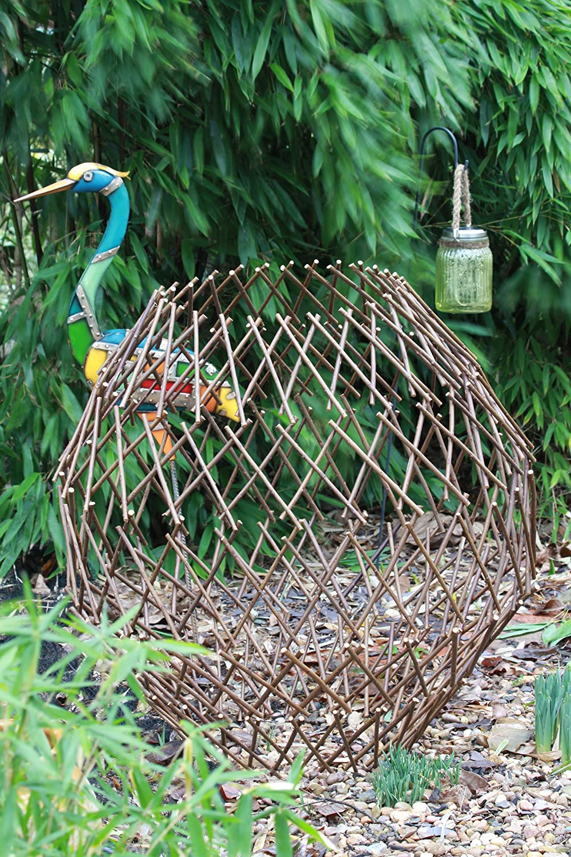 GOLDBEARUK Giant Natural Willow Ball Plant suport Foldable Garden Structure 100cm