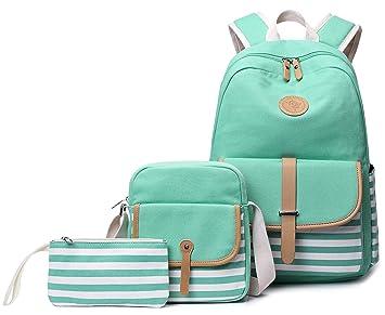 741b3468a Amazon.com: School Backpack for Girls, Gazigo Womens High School College  Bookbags Laptop Bag (Green): Gazigo US