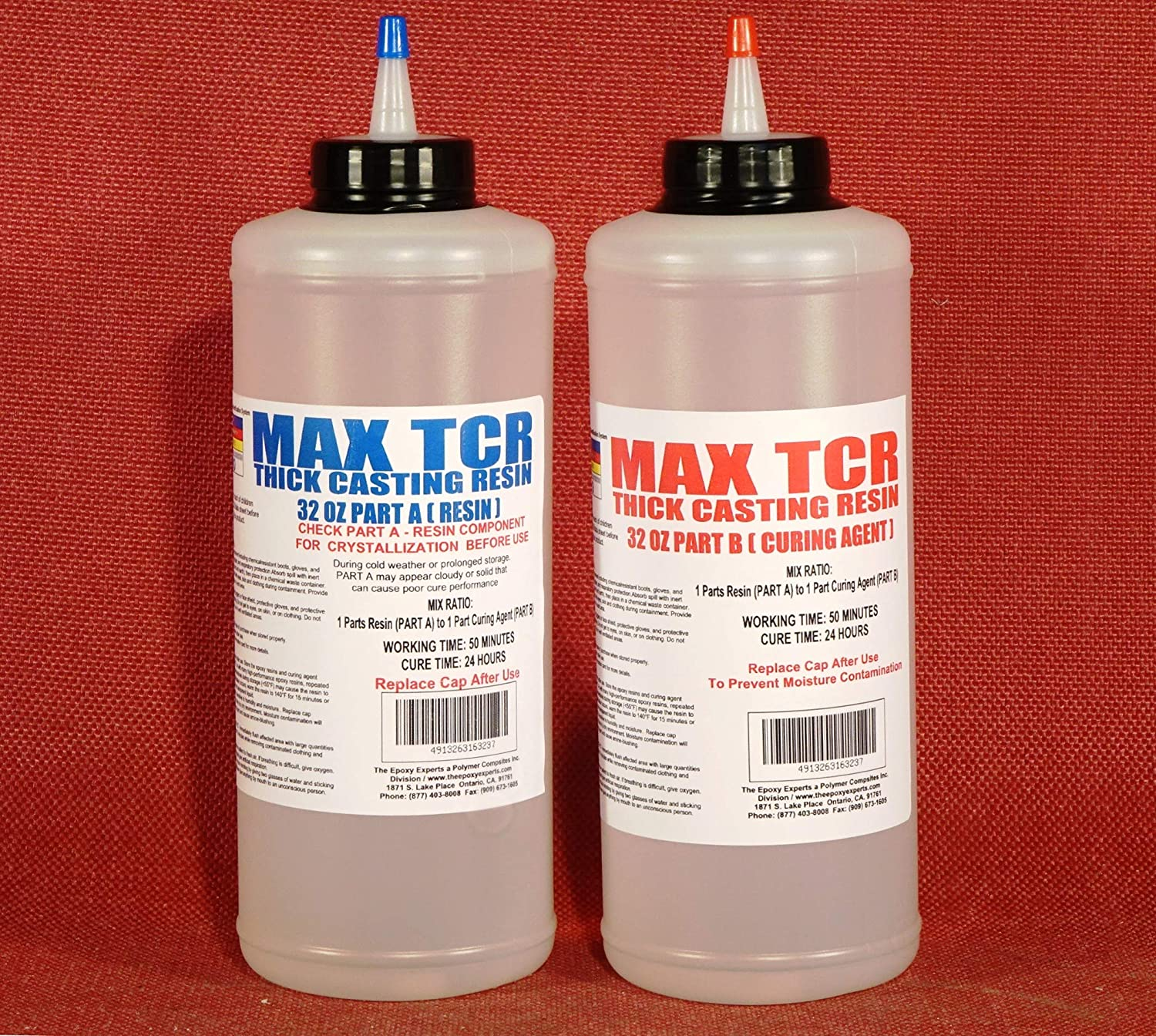 Floral Cast Epoxy Resin - MAX TCR A/B - Creates Water Simulation for Flower Arranging -Thick Casting Resin, Crystal Clear, Flexible, Room Temperature Cure - MAX TCR A/B 1/2 Gallon Kit