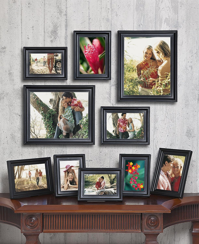 Amazon 10 piece matte black picture frame set jeuxipadfo Image collections