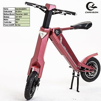 Bicicleta eléctrica plegable inteligente portátil, utilice el motor 350W, batería de litio de la