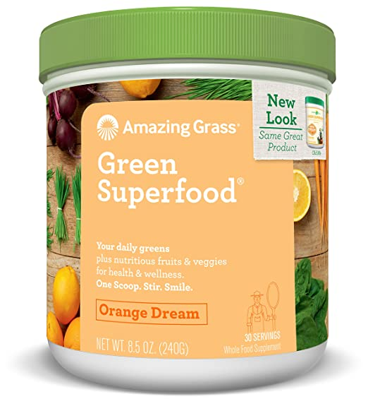 Amazing Grass Green Superfood Orange Dream, 30 servings, 8.5 Ounces