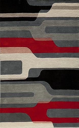 Momeni Rugs Delhi Collection Area Rug, 8 x 10 , Black Multi