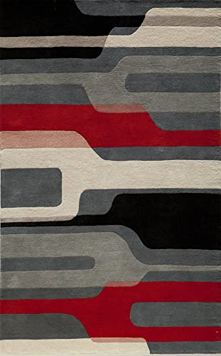 Momeni Rugs Delhi Collection Area Rug, 5 x 8 , Black Multi
