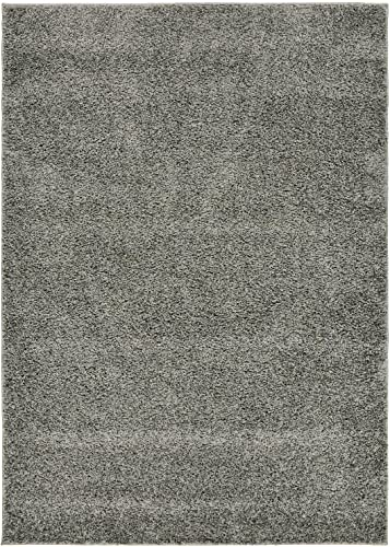 Shaggy Collection Solid Color Shag Area Rugs Gray