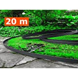 20 metri - Flessibile giardino bordo -. Con 100 Anchor inclusa, flessibile tagliare i bordi, in plastica Recinzione da giardino, flessibile giardino a prato, Idea Giardino, Garden Design ( 20 metri - 2x10m ) Nero