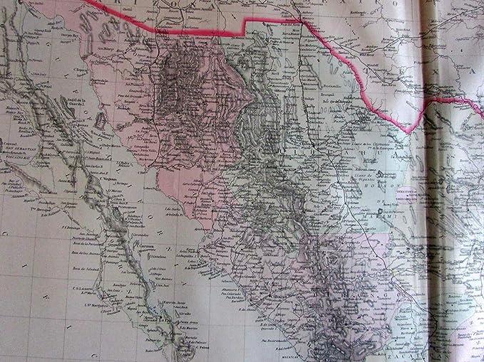 Amazon Com Mexico W Insets Vera Cruz Yucatan 1889 Bradley Large