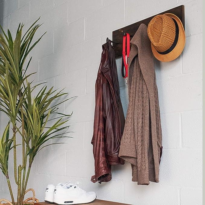 Amazon.com: Juego de 4 ganchos para colgar abrigos, de ...