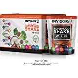 INVIGOR8 Superfood Shake Gluten-Free and Non GMO Meal Replacement Grass-Fed Whey Protein Shake with Probiotics and Omega 3 (645g) … (Pouches (12-pk) Chocolate Brownie)