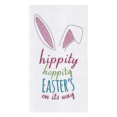 C&F Home Hippity Hoppity Spring Easter's On It's Way Spring Bunny Rabbit Ears Flour Sack Kitchen Towel Hippity Hoppity