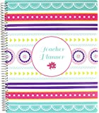 """bloom daily planner Undated Academic Year Teacher Planner Lesson Plan Book - 9"""" x 11"""" - Medallions"""