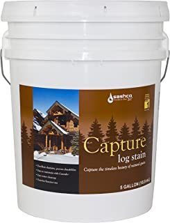 product image for Sashco Capture Capture Log Stain, 5 Gallon Pail, Hazelnut (Pack of 1)