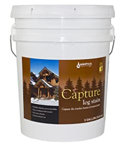 Sashco Capture Capture Log Stain, 5 Gallon Pail, Chestnut (Pack of 1)
