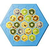 Settlers of Catan Compatible Game Board - Catan Works with 3-4 Player Set and 5-6 Player Extension Settlers Games - You Can N