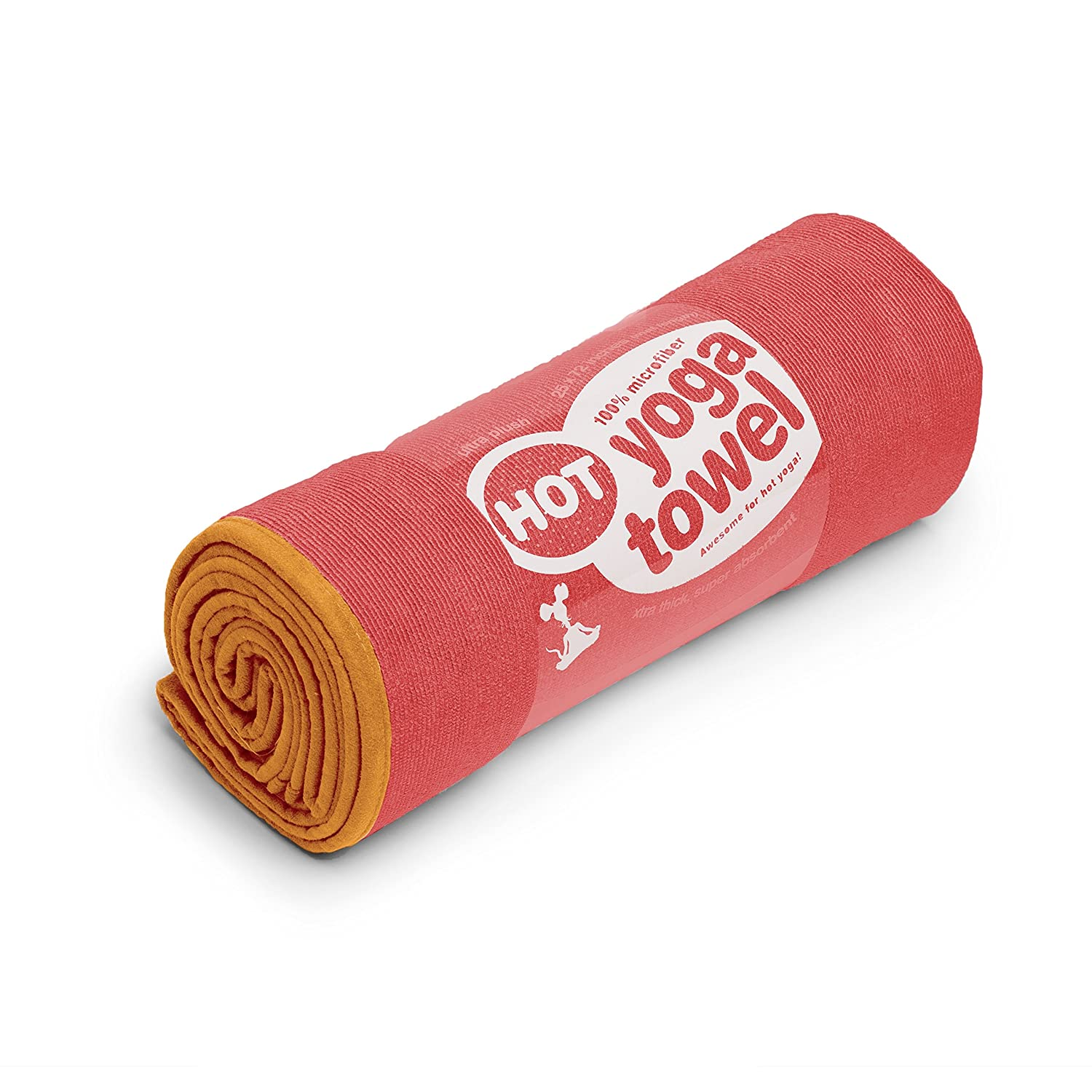 YogaRat HOT YOGA TOWEL: 100% durable, thick, super-absorbent microfiber. Offered in multiple mat-length sizes (26x72, 25 x 72 or 24 x 68) to lay on top of your yoga mat, for better grip and moisture absorption, and a hand-size towel (16 x 25, sold separate
