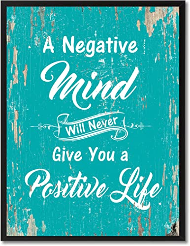 SpotColorArt A Negative Mind Will Never Give You Positive Life Framed Canvas Art