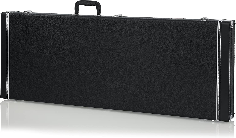 Gator GW-JAG - Estuche para guitarra eléctrica de madera, Tipo Fender Jazzmaster / Jaguar, Negro