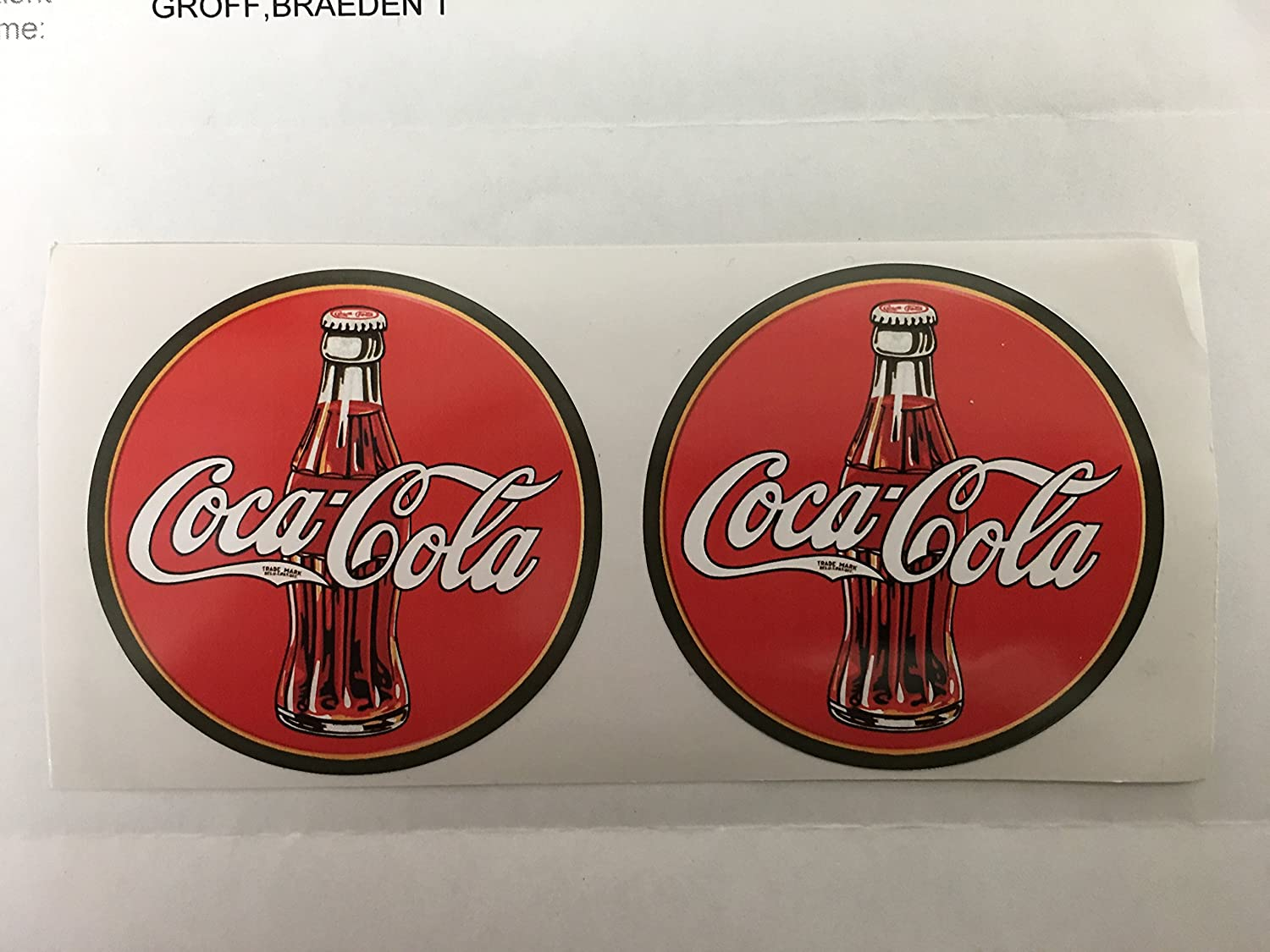 2 ORIGINAL enjoy COCA~COLA DOOR or WINDOW STORE HOURS Decal//Sticker