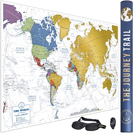 Mapamundi para rascar para viajeros y familias - Scratch off world ...