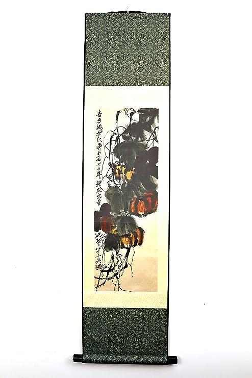 Amazon com: Qi Baishi (齐白石)Chinese Scroll Painting on