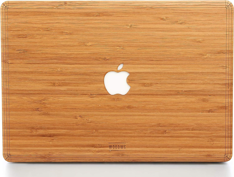 Leaf Mid 2018 WOODWE Modelo: A1706//A1708//A1989; Late 2016 Funda de Madera para MacBook Pro de 13 Pulgadas con Barra t/áctil Parte Superior