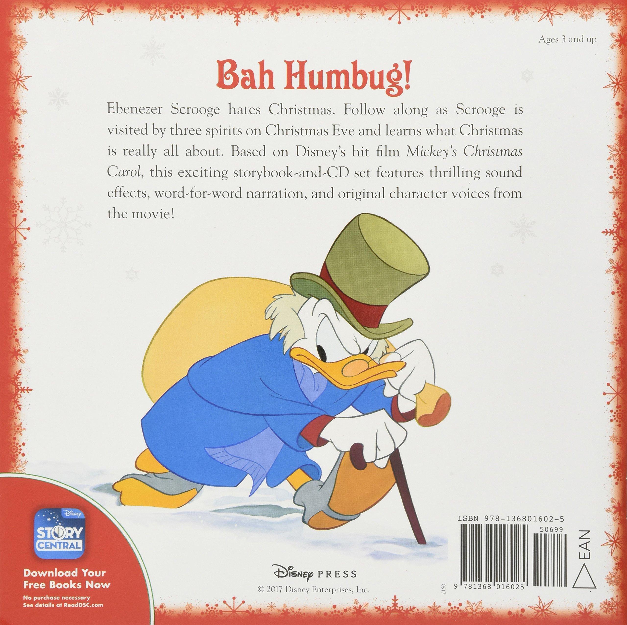 Mickey\'s Christmas Carol Read-Along Storybook and CD: Disney Book ...