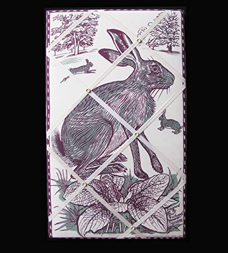 Richard Bawdens Hares Box Framedfabric Covered Memomessage