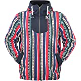 virblatt – Mens Baja Hoodie Baja Jacket Hippie Jacket Fleece Jacket Warm Jacket - Koppenhagen