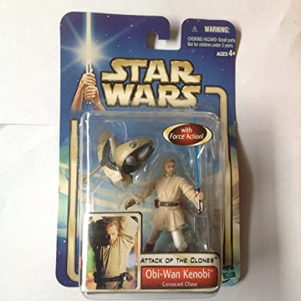 Obi-Wan Kenobi Coruscant Chase Figure Star Wars Saga Attack of the Clones 2002