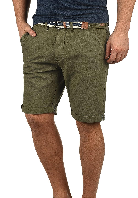 Indicode Mews Pantaloncini Chino Shorts Panno Corti Da Uomo con cintura In Cotone 100% Regular Fit