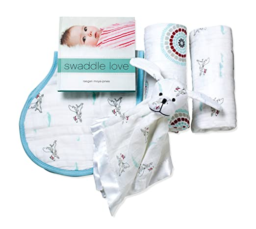 Newborn Baby Gift Ideas: aden + anais new beginnings gift set, liam the brave
